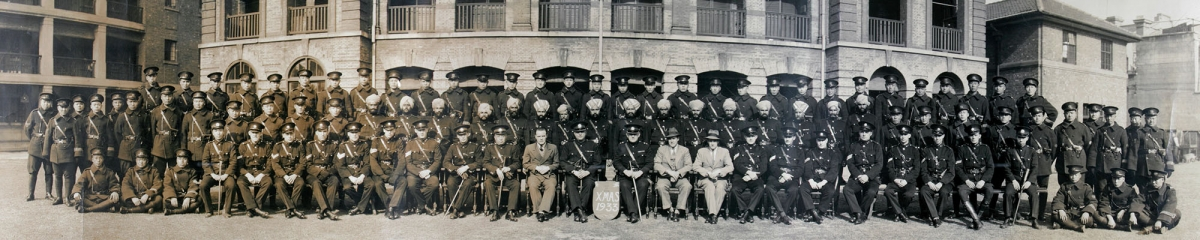 Sinza Police Station personnel (Shanghai Municipal Police), Shanghai, 1933. St-s003. © 2006 Historical Photographs of China.