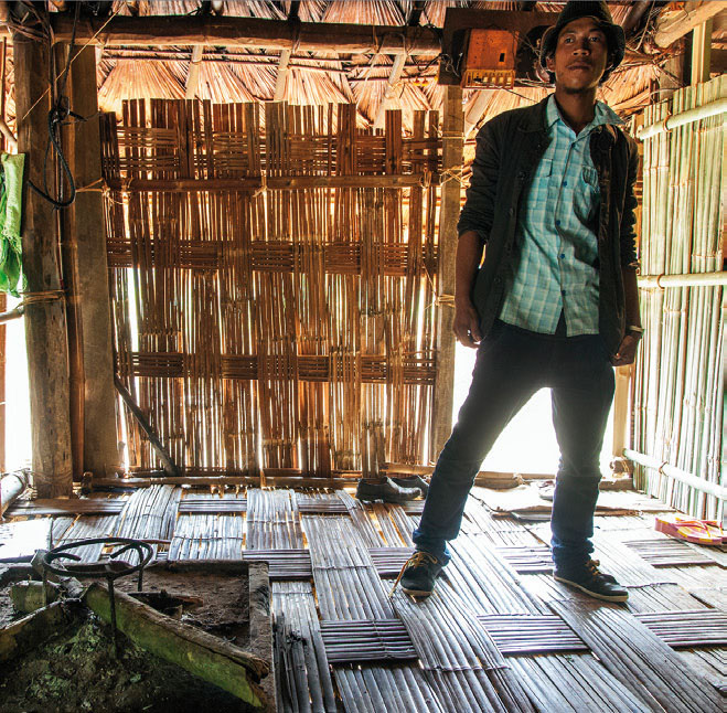We met Phoban in Varkala, Kerala, where he worked in a cafe making juice and washing dishes. Here is a photo of him back in his village in Arunachal Pradesh. Photo courtesy of the 'Wayfinding Exhibition'; http://socant.su.se/wayfinding.