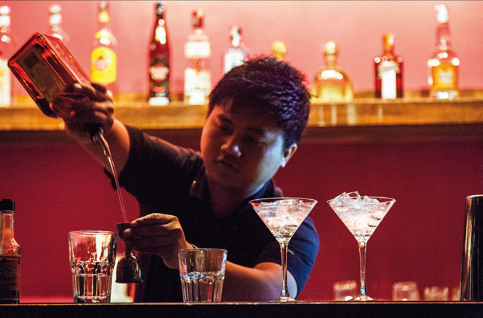 Bangalore is a centre for Northeastern migrants in South India. Here is a photograph of a young migrant from Manipur working as a bartender at the Hardrock Cafe.  Photo courtesy of the 'Wayfinding Exhibition'; http://socant.su.se/wayfinding.