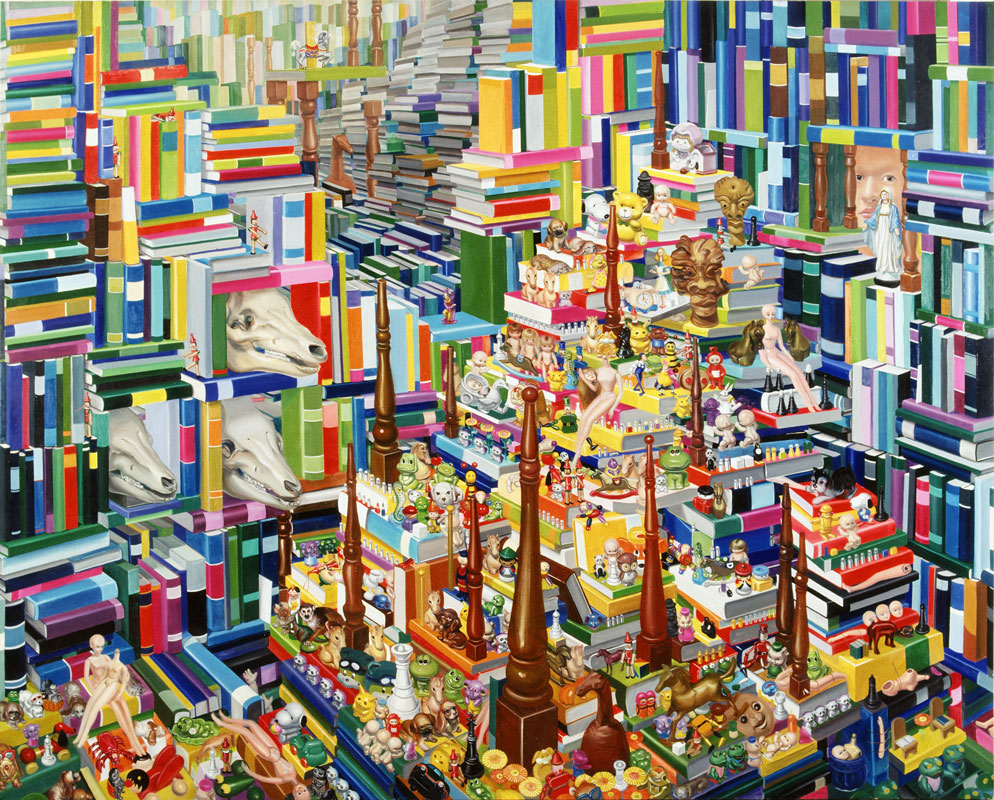 Fig. 4. Kyoungtack Hong, Library 3, 1995–2001. Oil on canvas. 71 ¼″ x 89″