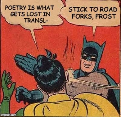 Fig.1: On poetry and translation. By Corinne Tachtiris.